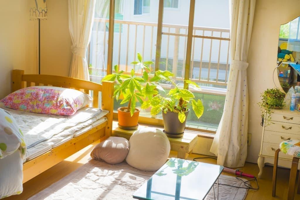 女子一人暮らしの部屋晴れの日